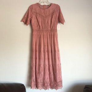 Delicate Lace Midi Dress